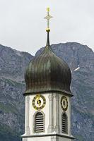 Kirchturm der Benediktinerabtei, Kloster Engelberg, Engelberg, Kanton Obwalden, Schweiz
