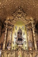 Altar inside of the Carmelitas church, Porto