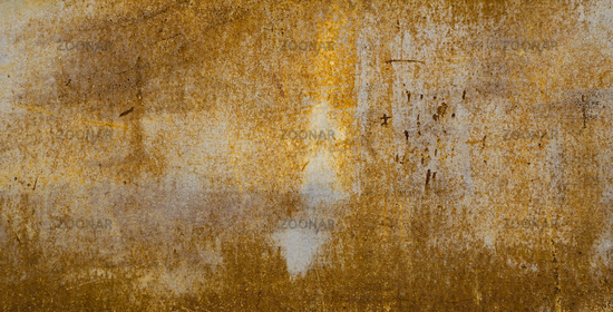 Painted metal rusted background. Metal rust texture. Erosion metal. Scratched and dirty texture on outdoor rusted metal wall.