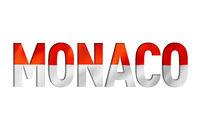 monaco flag text font
