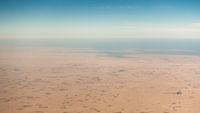Coastal desert aerial view