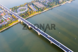 aerial view of beautiful xiang river