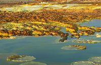 Heisse Mineralquellen, Salzpools und Salzablagerungen, Geothermalgebiet Dallol, Äthiopien