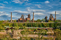 Industrial factory in Duisburg, Germany.