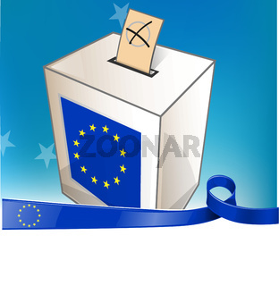 european election with ribbon flag