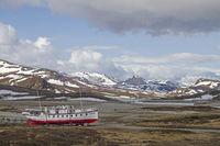 Ausflugsschiff Bitihorn in Winterruhe
