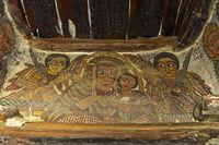 Jungfrau Maria mit dem Kind, Felsenkirche Petros and Paulos Melehayzengi, Äthiopien