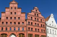 Historische Giebelhäuser in Stralsund, Deutschland, historic houses with gables, Stralsund, Germany