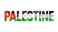 palestine flag text font