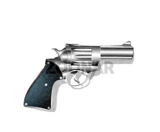 Watercolor hand gun