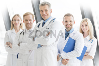 Successful team of medical doctors
