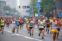 Young athletes at the Chengdu marathon