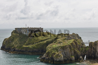Castle at Tenby in Wales, UK.
