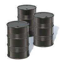 Three black barrels 3D