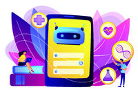 Chatbot in healthcare concept vector illustration.
