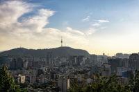 seoul namsan tower view