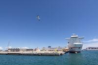 Freight ship Super Fast Levante moored Palma port
