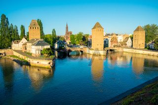Towers Ponts Couverts Bridge River Strasbourg