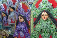 Durga Deity, Kumartuli, Kolkata, India