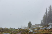 Hike in blizzard