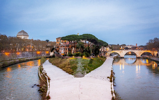 The historical Tiber island in Rome