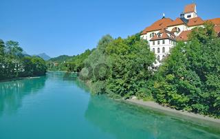 Kloster Sankt Mang am Lech,Fuessen,Allgaeu,Deutschland