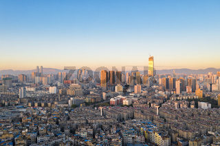 kunming cityscape in early morning