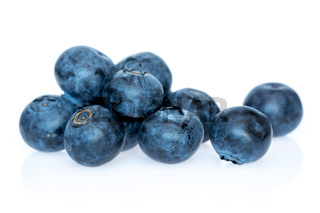 Blueberry heathberry isolated on white background