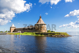 Historical medieval Oreshek fortress is an ancient Russian fortress