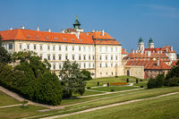 VALTICE, CZECH REPUBLIC - SEPTEMBER 5, 2012: The beautiful Valtice Chateau in southern Moravia in the Czech Republic