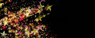 Wonderful Christmas background design illustration with stars and snowflakes