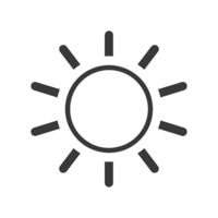 Screen Brightness Icon Vector