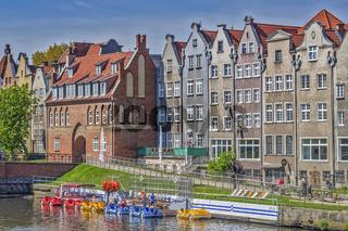 Buildings Along The River Motlawa , Gdansk, Poland