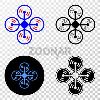 Air Copter Vector EPS Icon with Contour Version