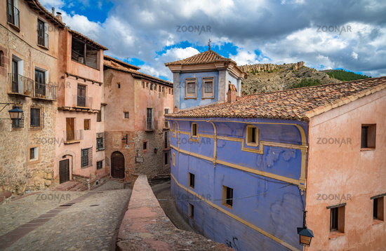 Streets of Albarracin, a picturesque medieval village inAragon,Spain