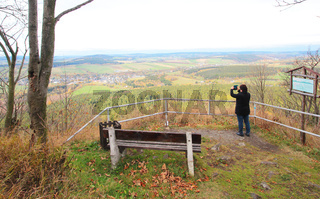 Weitblick vom Bärenstein im Erzgebirge