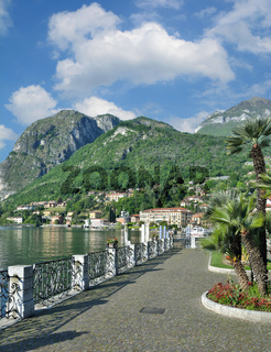 Promenade in Menaggio am Comer See,Lombardei,Italien