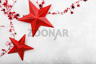 Christmas or New year red decorations