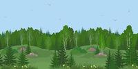 Seamless Landscape, Summer Forest