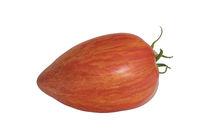 Eine gestreifte Tomate