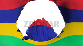 Big hole in Mauritius flag