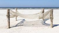 Fishnet on a beach