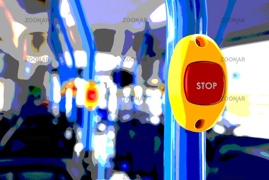 Stop Button on a Bus