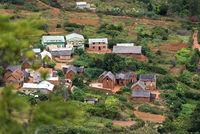 Ländliche Siedlung bei Antananarivo, Madagaskar