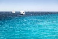 Blue Hole White yachts Egypt, Africa.