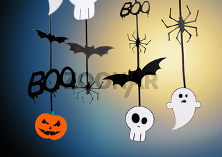 halloween party garlands or decorations