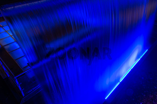 Blue Glowing Waterfall Long Exposure Guiness Storehouse