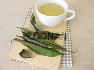 Eine Tasse Avocadoblättertee, Tee aus getrockneten Avocadoblätter