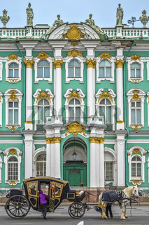 Carriage Outside The Hermitage,  St. Petersburg, Russia