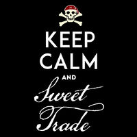 Keep calm with pirate emblem with text, skull and bones.